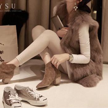 Осень зима европейский стиль женщины искусственный мех пальто Colete FeМиниno пальто ...