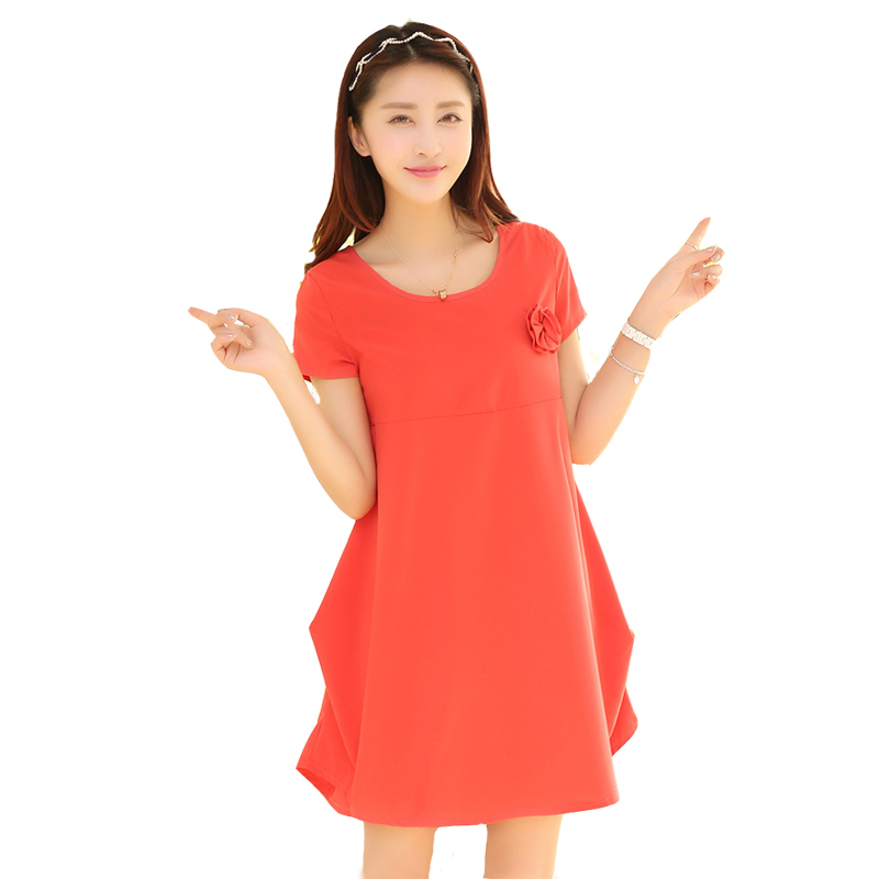 Cotton Fashion Pregnancy Dresses Cute Summer Maternity Dresses Plus Size Women Clothes 2015 Free Shipping AP0214(China (Mainland))