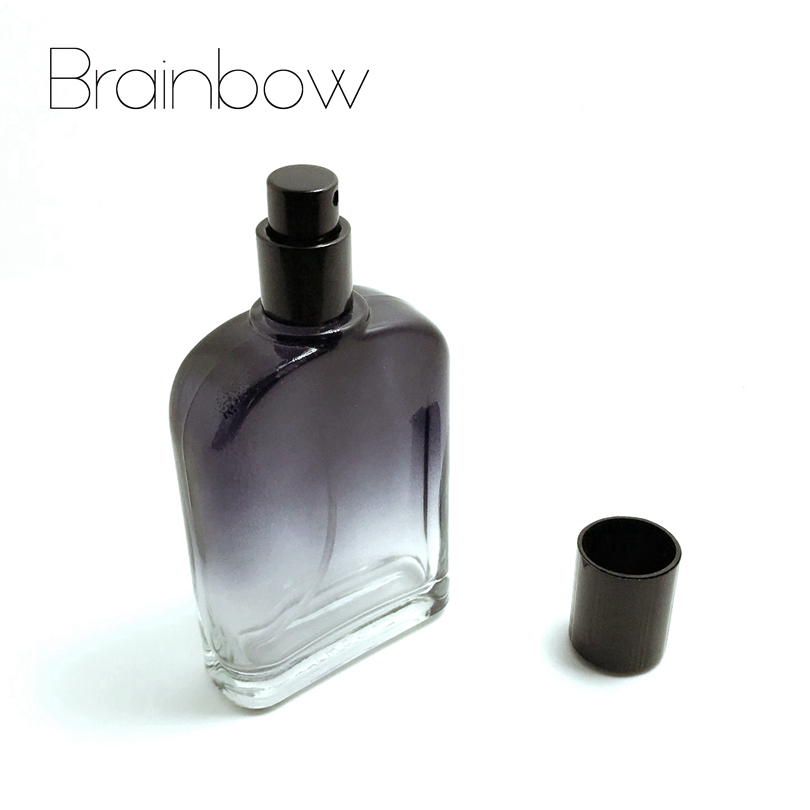 Brainbow 100ml Black Glass Perfume Bottle Portable Empty Refillable Bottle Traveler Spray Atomizer Perfume Bottle+Small Funnel(China (Mainland))
