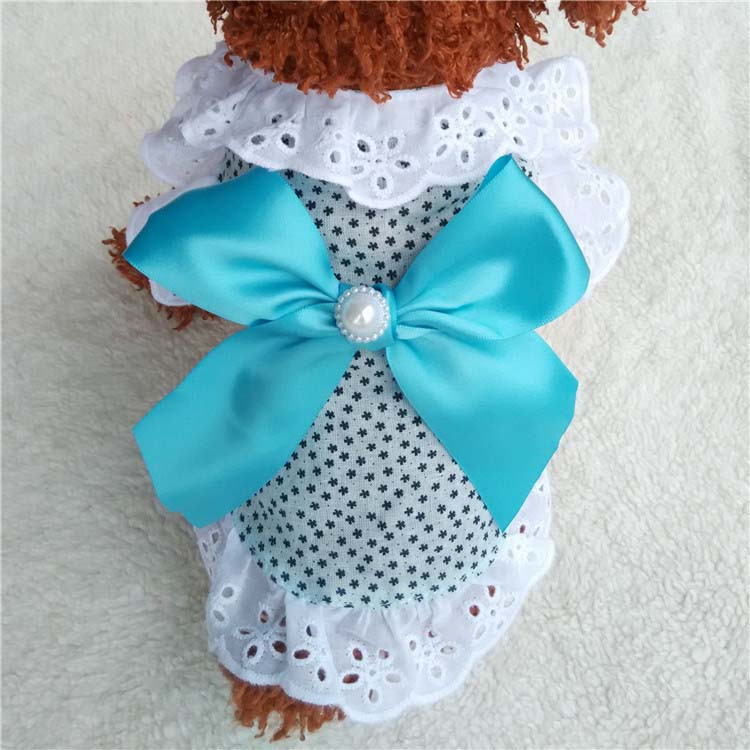 Summer New Cat Dog Clothes Puppy Dog Princess Dress Shirt With Nylon Lace Sexy Breathable Pet Clothing for Chihuahua Teddy XS S M L XL5