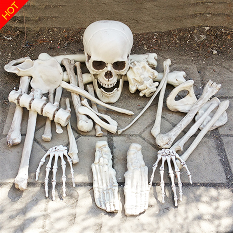 Bag of bones halloween skeleton bones 28pieces in a mash for Bag of bones halloween decoration
