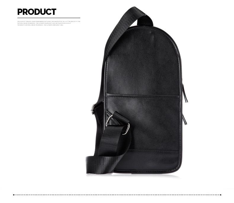 1925a981379d Men Chest Pack Weave Leather Men S Messenger Bags Belt Decoration ...