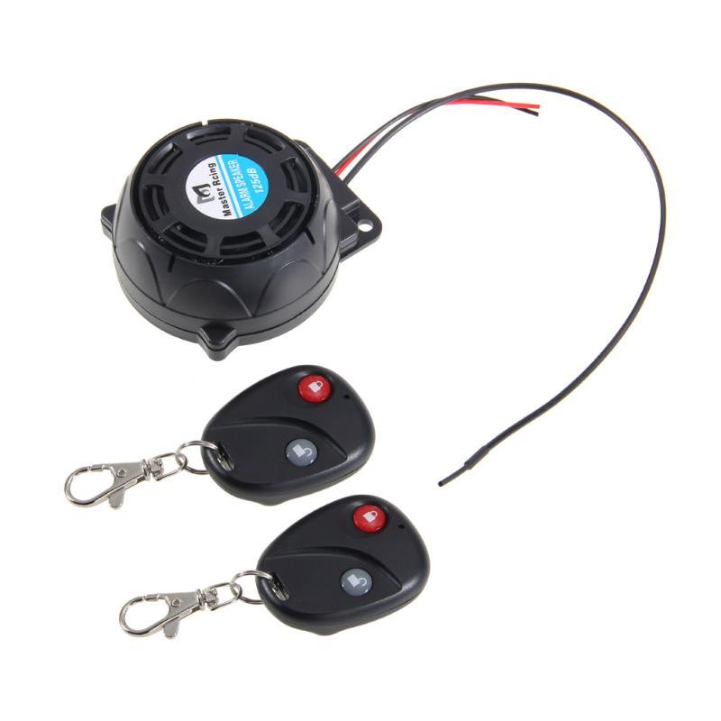 Motorcycle Anti-theft Security Alarm System Dual Remote Control Sensor 120-125dB 12V