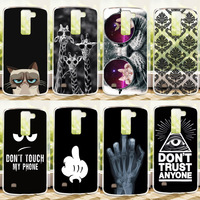 High Quality Colored Fashion Case For LG K8 Lte K350 K350E K350N Case Cover, Hard PC Plastic Phone Cases Cover For LG K8 Cases