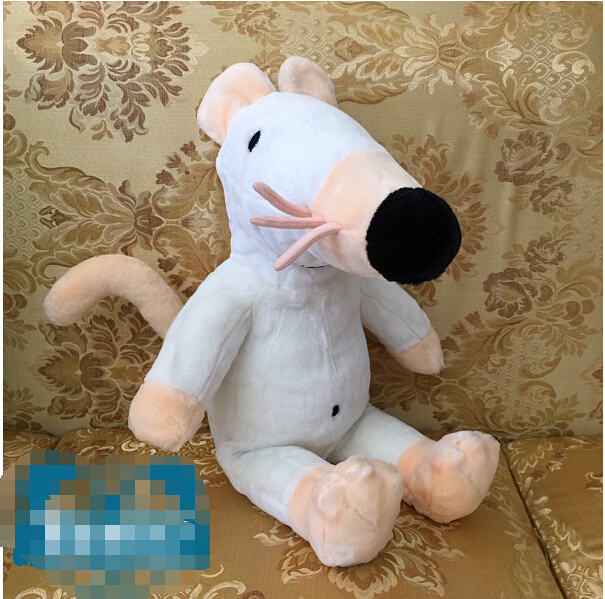 Cartoon TV Maisy Mouse Story Cute Big White Mouse Plush Toy Stuffed Toys 60cm Good Quality Doll Kids Gift Soft Toys For Children(China (Mainland))