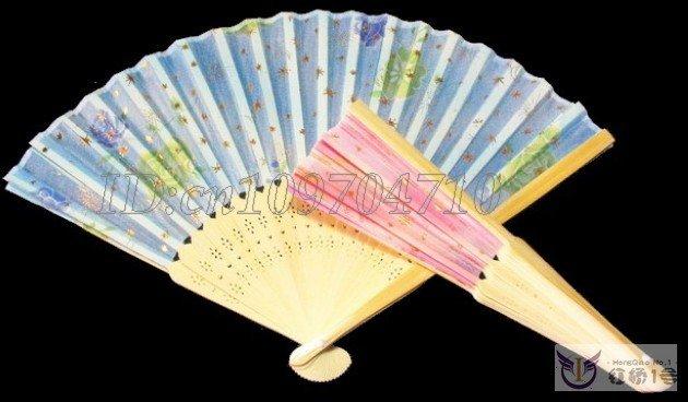 Free shipping! 50pcs Handcraft Asian Chinese Silk folding Bamboo Fans 02(China (Mainland))