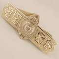 Min order 10 Star Carving Noble large gold metal buckle bohemia women s cummerbund stretch elastic