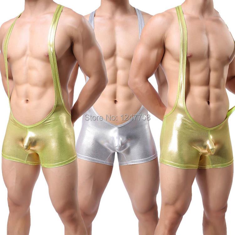 Sexy Men's Wrestling Singlet Struggles Bodysuit Backless Body Wear Leotard Underwear