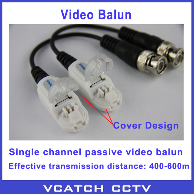 Vcatch CCTV Camera Psssive Video Balun UPT Transiver BNC CAT5 Cable Connector Twisted Video Balun 5 pairs/lot