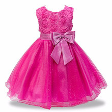Нарядные платья для девочек-подростков детское платье принцессы Свадебное платье с цветочным рисунком нарядный Детский костюм для подрост...(China)