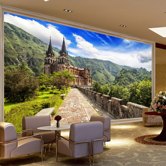 Tv Background Wall Paper Bedroom Sofa Living Room Mural Wallpaper