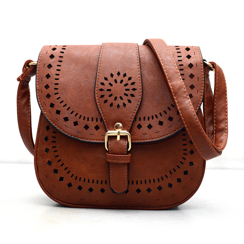 2015 Small Casual women messenger bags PU hollow out crossbody bags ladies shoulder purse and handbags
