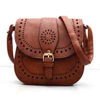 2015 Small Casual women messenger bags PU hollow out crossbody bags ladies shoulder purse and handbags bolsas feminina