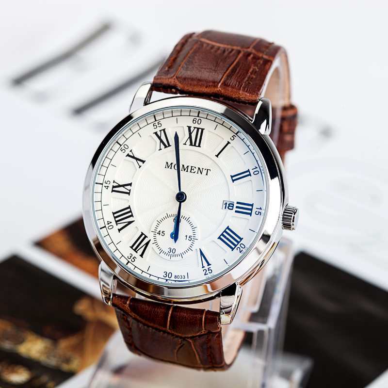 2015 couples table, male when shun calendar watch men cortex, lovers eyes three stitches quartz watches, leather watch.(China (Mainland))