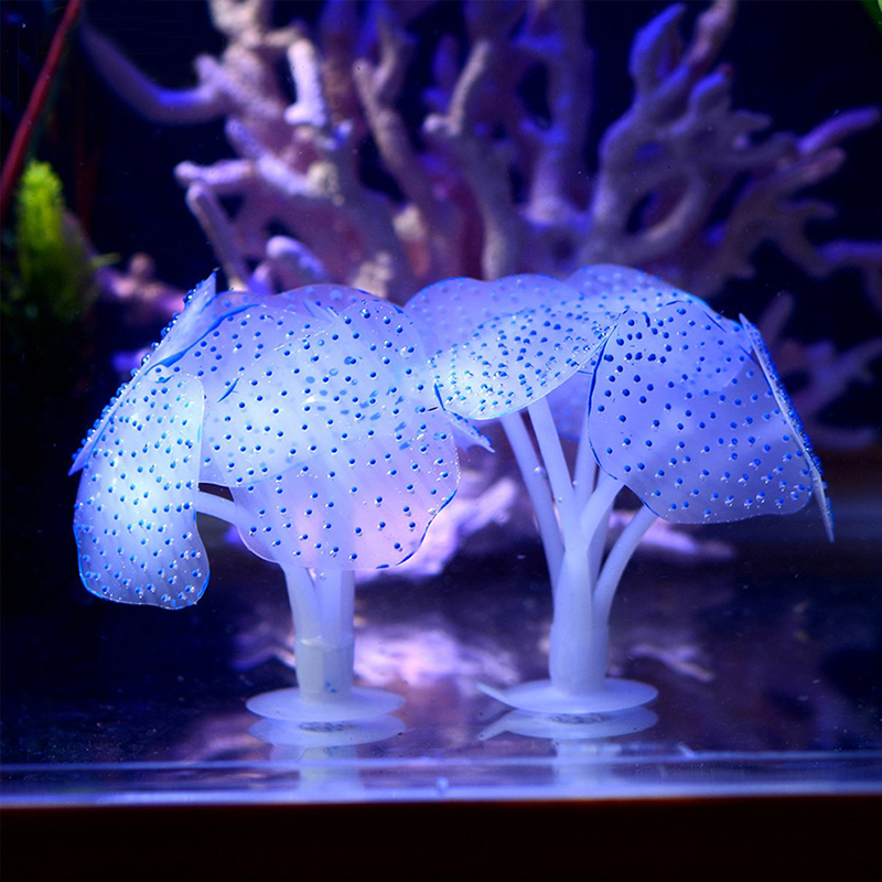 1PC Home Silicone Artificial Fish Tank Aquarium Coral Plant Ornament Water Best Decoration G01598(China (Mainland))