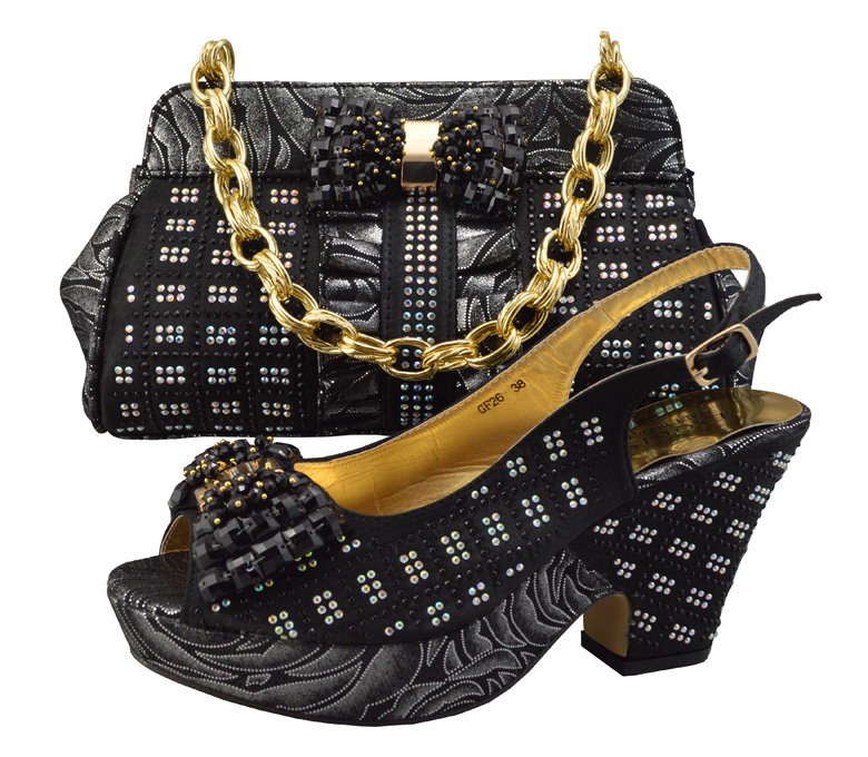 YBS1 10High Class Italian Shoes And Bags Set For Woman Party Dressfashion Italian Shoes And ...
