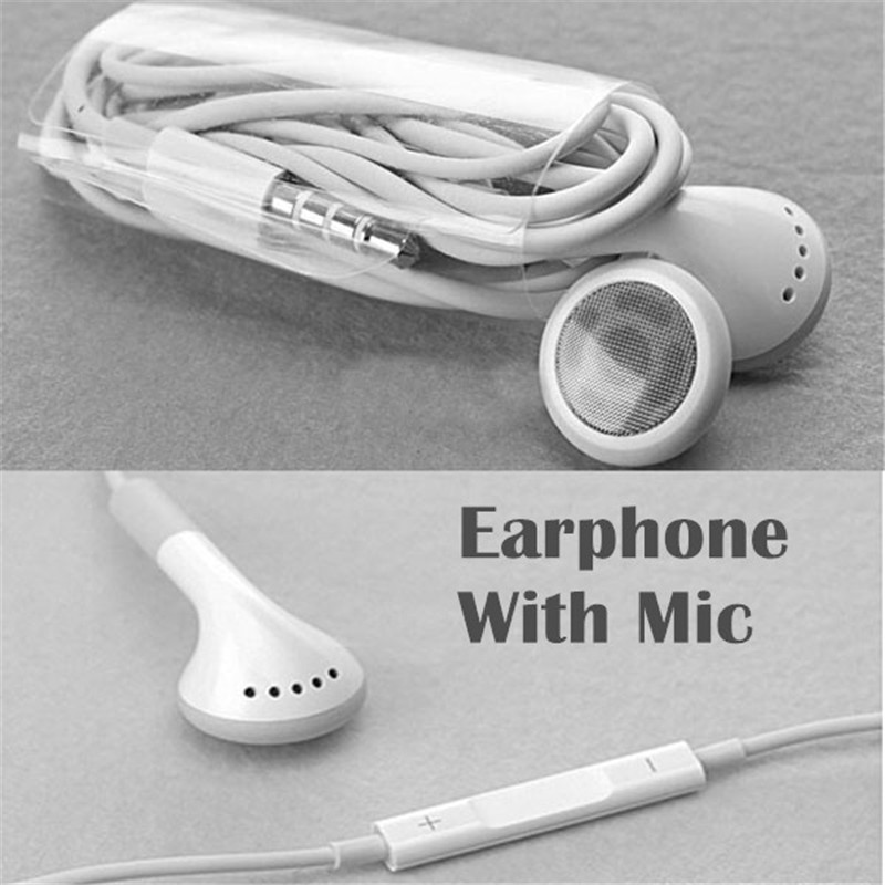 Best quality para stereo Earphone noise canceling earbuds With Mic and voice control for Apple iPhone 4 4S(China (Mainland))