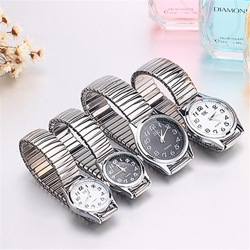 Men/Women Fashion restoring Quartz Stainless Steel elastic strap Band Business Wrist Watch Watches(China (Mainland))