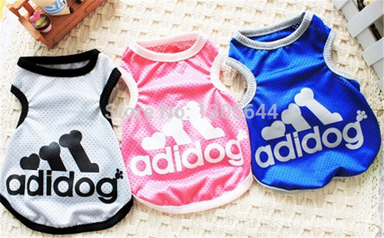 High Quality Polyester print bone dog summer vest pet clothes ,Clothes for dogs,dog dress,dog shirt free shipping(China (Mainland))