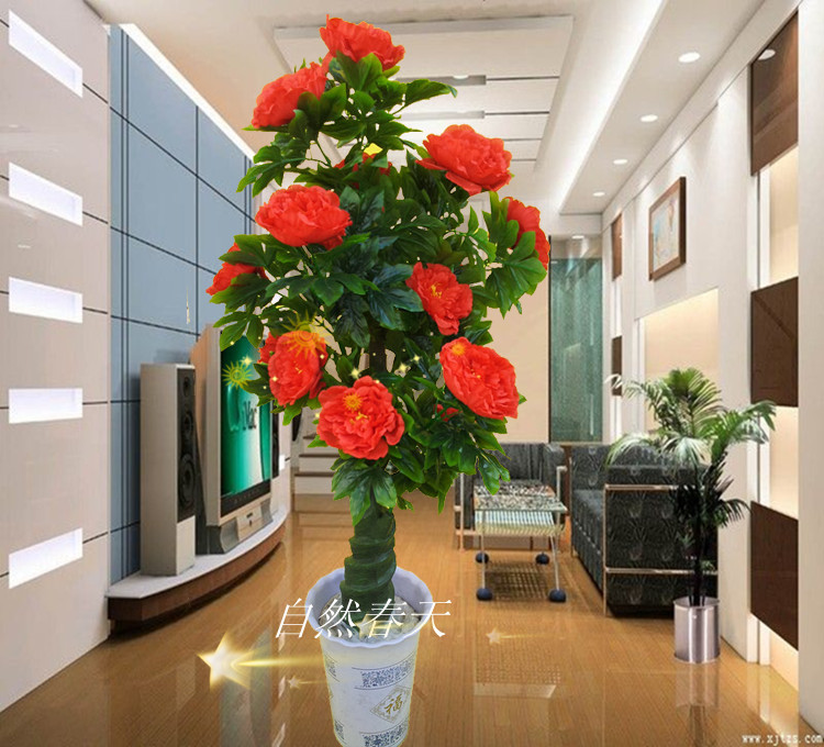 Artificial Tree Fake Tree Rose Tree Artificial Plants Living Room Decoration French Bonsai Rose