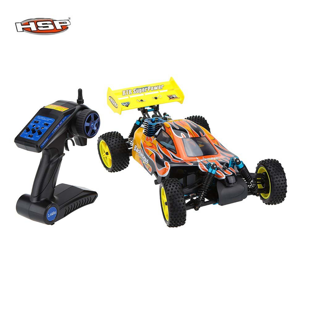Free shipping HSP Baja 1/10th Scale Nitro Power Off Road Buggy 4WD RC Hobby Cars 94166 With 18cxp Engine 2.4G Radio Control