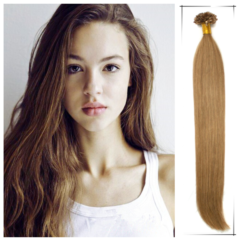 Wholesale 18inch/45cm Full Head Set Brazilian Human Straight Pre Bonded Remy Hair Weaves 100g/pc Tangle Free Apply Hair