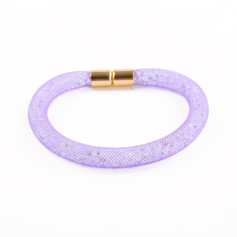 Wholesale Stardust Bracelet 2015 New One Direction Bangles Mesh With Tiny Resin Crystal Filled Magnetic Bracelets & Bangles(China (Mainland))
