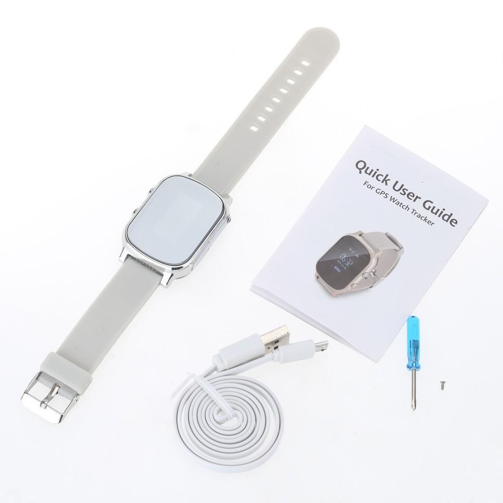 ถูก T58เด็กGPS watchติดตามสมาร์ทนาฬิกาสร้อยข้อมือแผนที่Google SOSปุ่มการสื่อสารสองทางส่วนบุคคลติดตามจีพีเอสแกรมl ocator