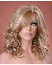 Material Lovely Ladies Long Wig Soft Waved Curls Ash and Platinum Blonde Fashion Wig Hair Peruca Perruque Peruca queen Hair wigs