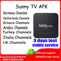 iptv europe account 30 days sunny tv for UK IR/GREECE ITALY TURKEY india arabic iptv adult ch for android tv box/enigma2/phone