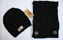 free shipping Polo scarf hat two-piece fashionable men and women the winter(China (Mainland))