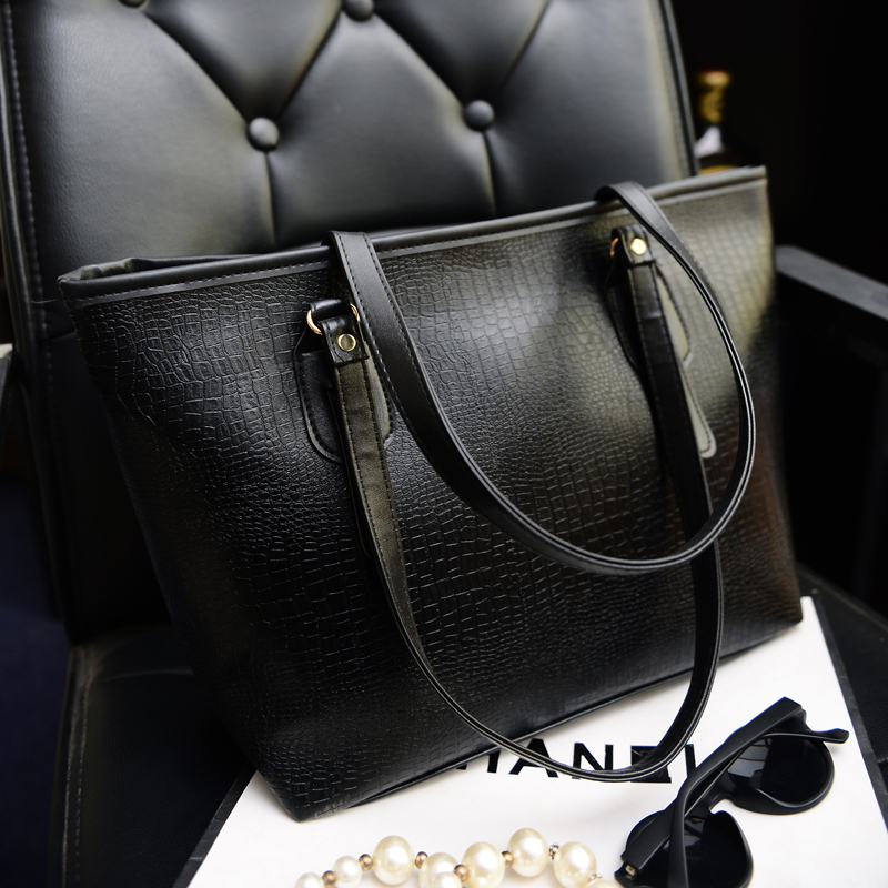 X-Online hot sale women handbag female fashion bag lady large tote big shopping bag(China (Mainland))