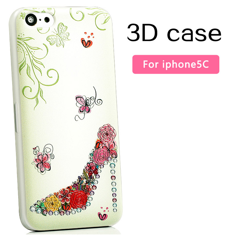 Fashion luxury 3D phone cases iphone 5c plastic hard case apple ultra-thin scrub protective cover cartoon - Mobile phone's lover store