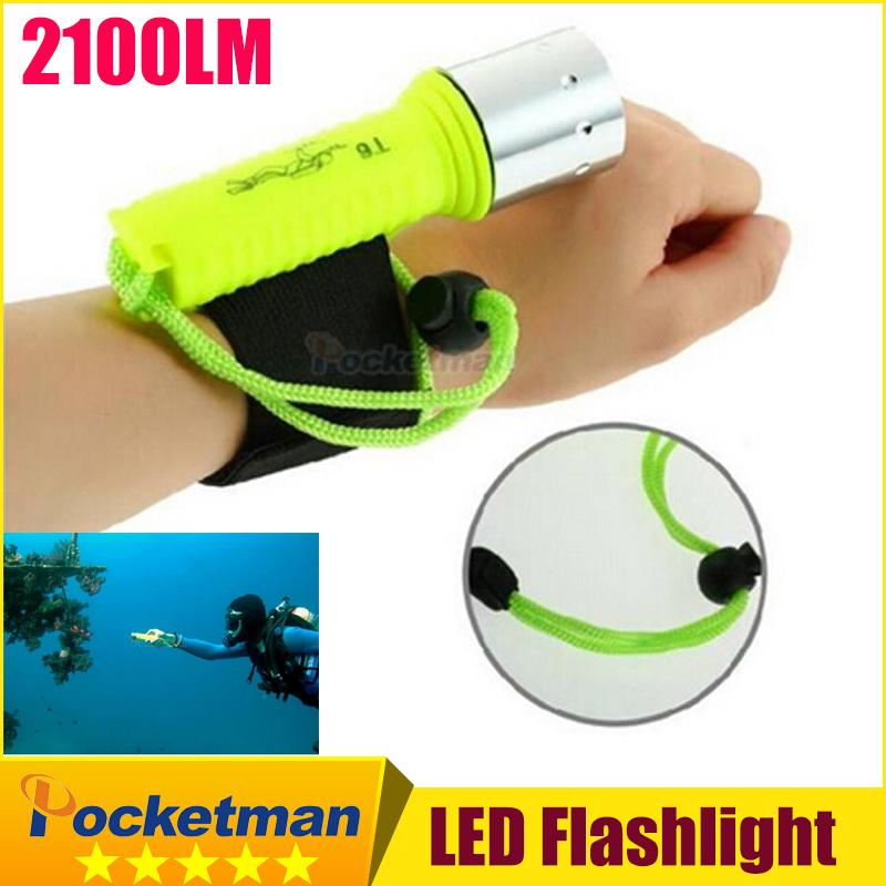 New 2100LM CREE T6 LED Waterproof underwater scuba Dive Diving Flashlight Torch light lamp for diving free shipping z93(China (Mainland))