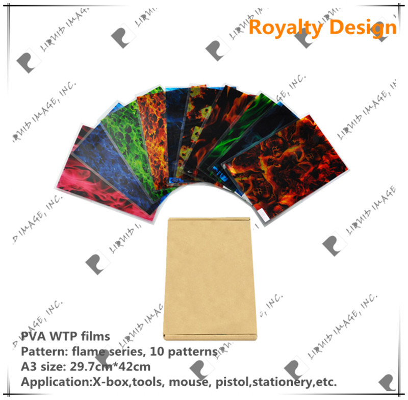 A3 size aqua print pva water transfer film NO. LYH-FS02 hydro dipping kit 20 pieces(China (Mainland))