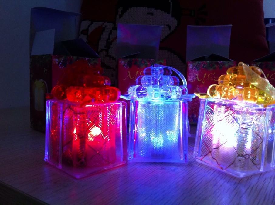 Freeshipping led Christmas light,glow gift box tree,holiday decoration light,nice kids 10 - LED Shoppingmall store