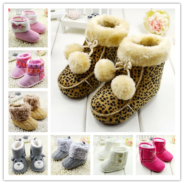 2015 fashion warm baby shoes fur winter boots girls sneakers snow new born 0-18 mths - Shopping Mall-CN store