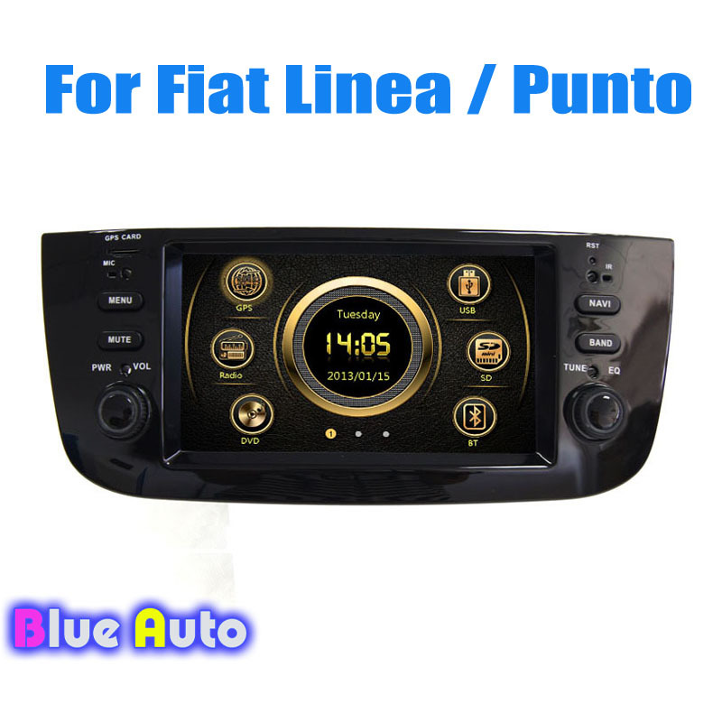 Wince Central Multimedia Support Steering Wheel Control Blue&Me DVD GPS 3G BT TV Radio Video Audio For Fiat Linea/Punto(China (Mainland))