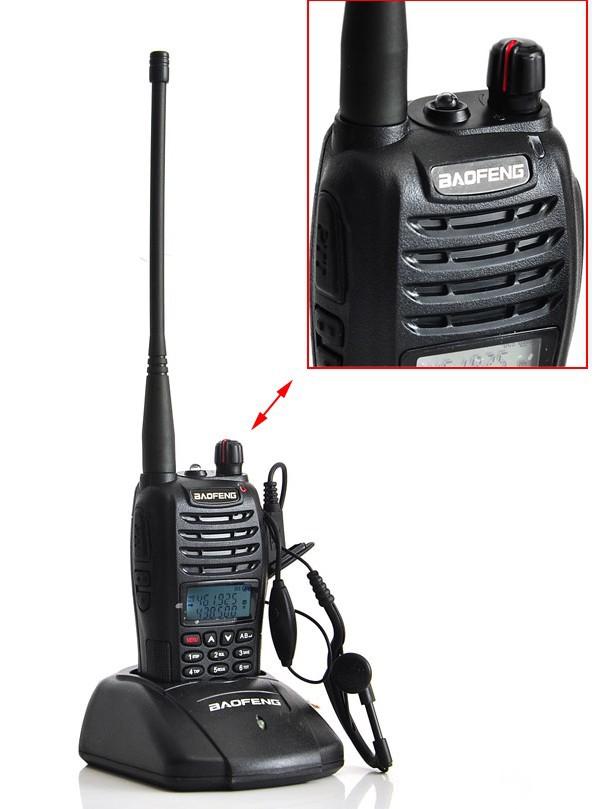 New BaoFeng UV-B6 Portable Radio Walkie Talkie UHF+VHF Dual Band 5W 99CH Two-Way Radio Ham CB Radio hf Transceiver USA1012A(China (Mainland))