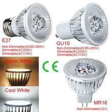 Buy NEW Super Bright LED Spotlight 9W LED Bulb Spot Light Lamp GU10 E27 110V 220V Dimmable MR16 12V Recessed Lighting Warm/White for $1.58 in AliExpress store