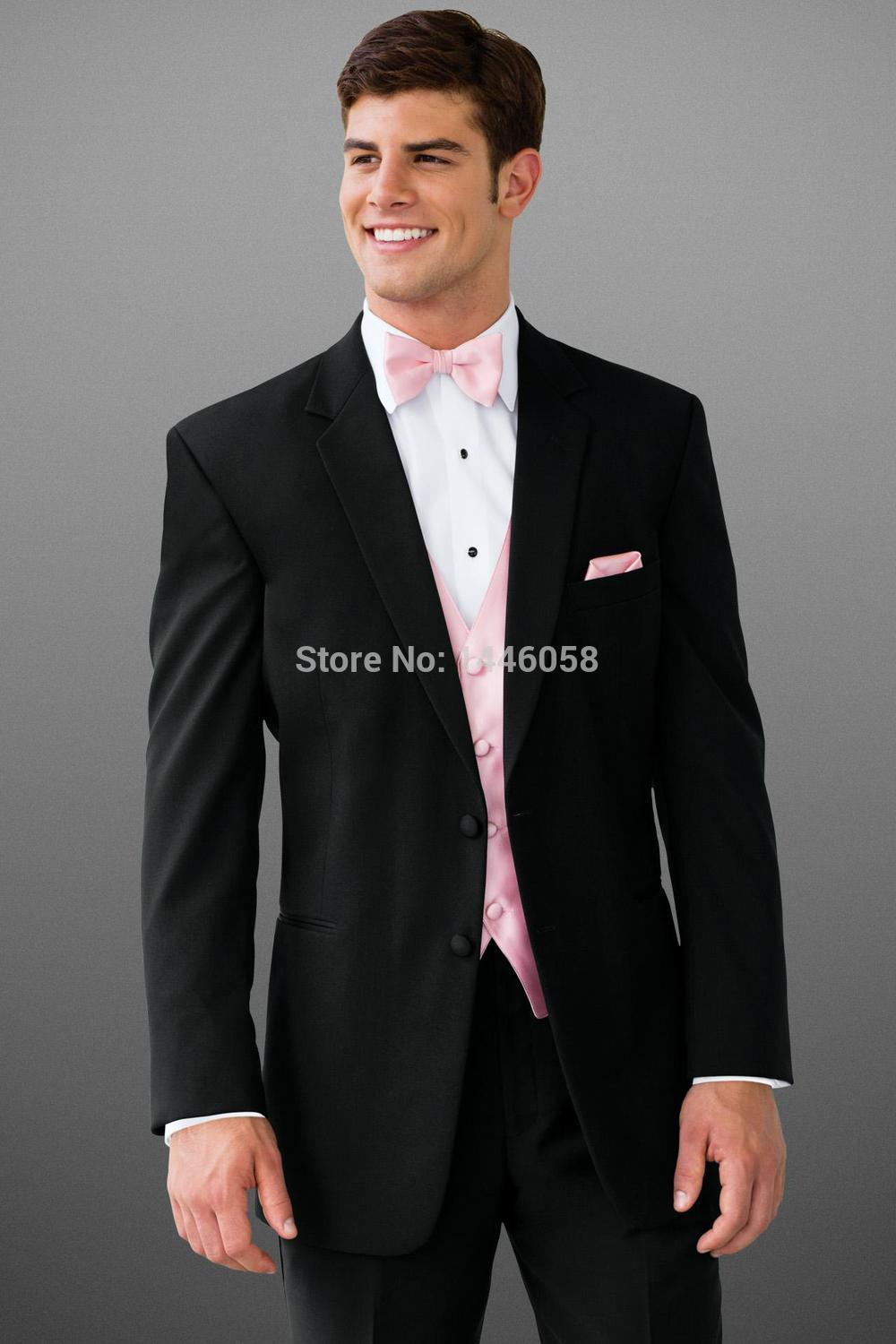 Pink and Black Wedding Tuxedos | Dress images