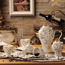 Fashion tea set coffee Sets 15 pieces high quality ceramic coffee cup and saucer set ceramic tea set  coffee set