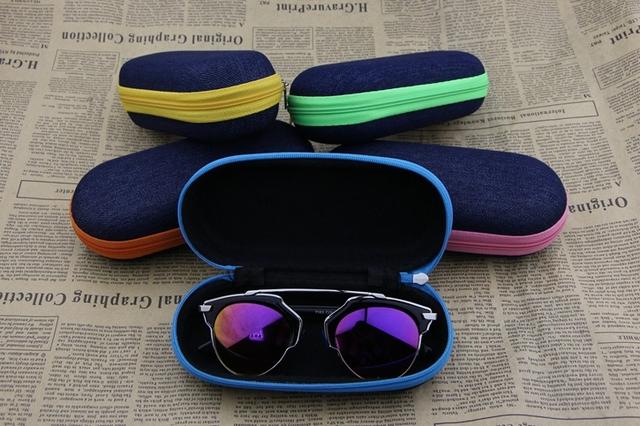 Молния солнцезащитные очки окно джинсовой ткани рюмки чехол цвет сторона раскладушка ...