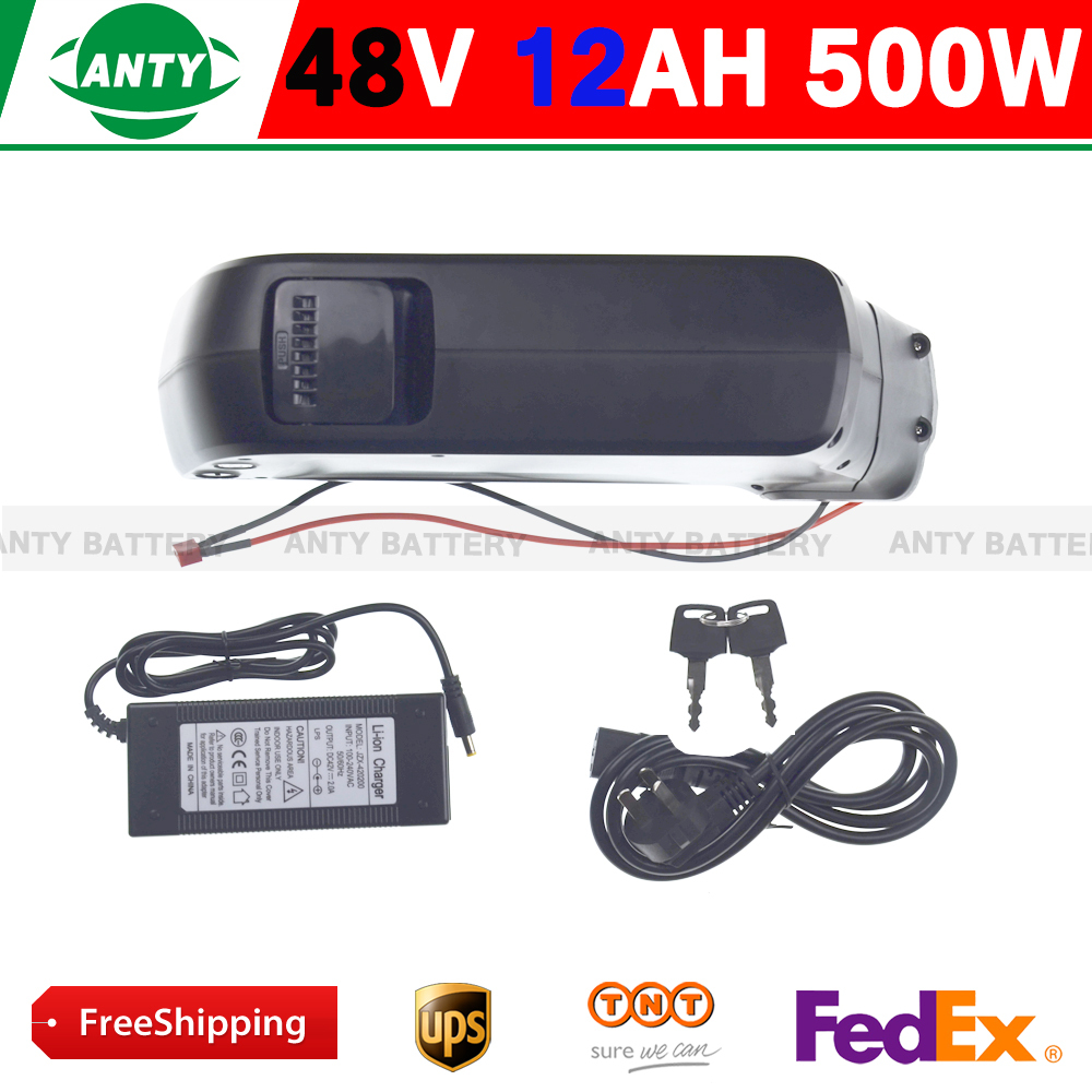 Батарея для электровелосипеда 48v Ebike 12AH 500W 48v usb/, 54.6v 2 , 15 BMS free shipping 48v 12ah electric bike battery 48v lithium battery use samsung 3000mah cell with 15a bms with 54 6v 2a charger