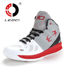 LEOCI Brand 2016 New Basketball Shoes Men Women Breathable Outdoor Mens Basketball Sneakers High Top Basket Homme Size 36-45