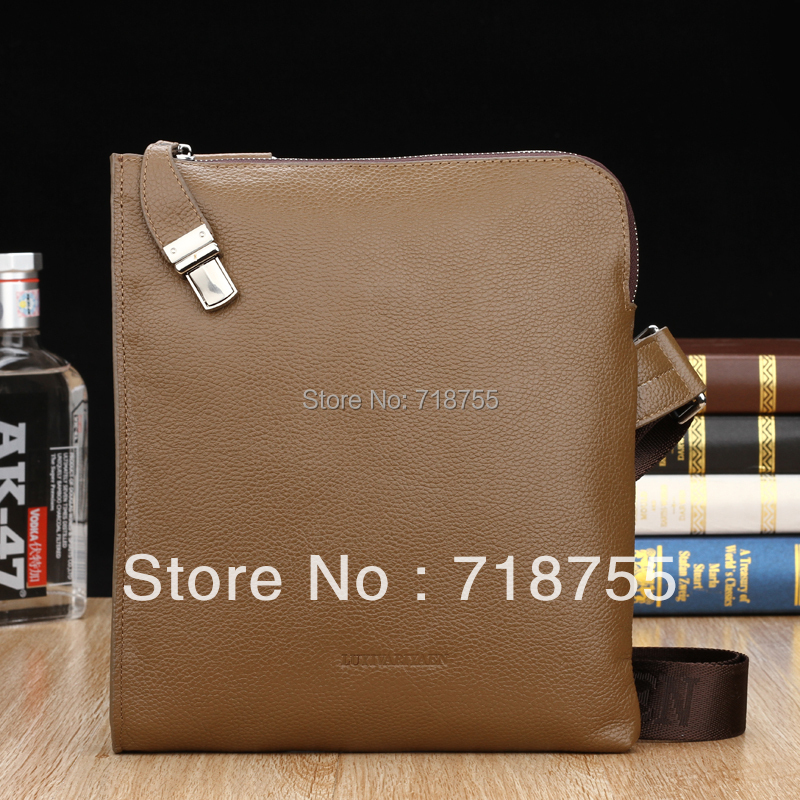 New high quality genuine leather man bag Men travel bags 100%Cowhide Messenger Bags Fashion brand shoulder bags Free shipping(China (Mainland))