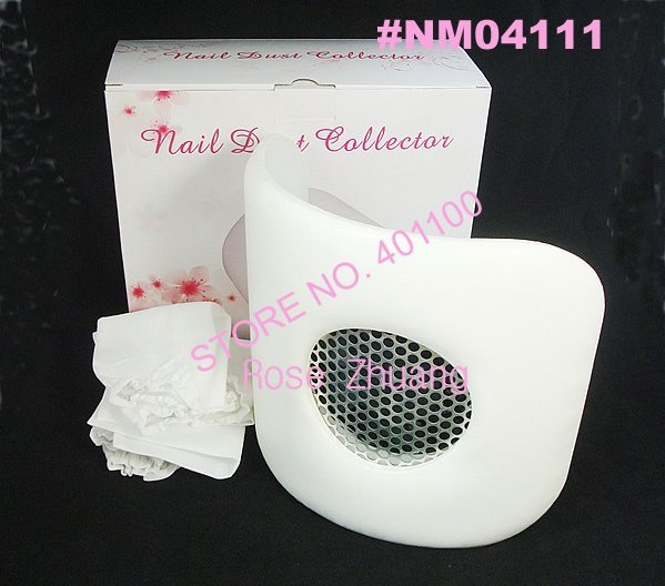 10pcs/lot White Curve Nail Art Dust Suction Collector with Hand Rest Design For Manicure and Pedicure Wholesales SKU:E0232