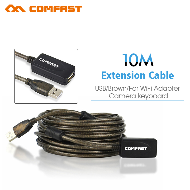High Speed Active Comfast 30Ft USB 2.0 Extension Cable Male To Female With Booster Repeater Extender 10 M 10 Meter free ship(China (Mainland))