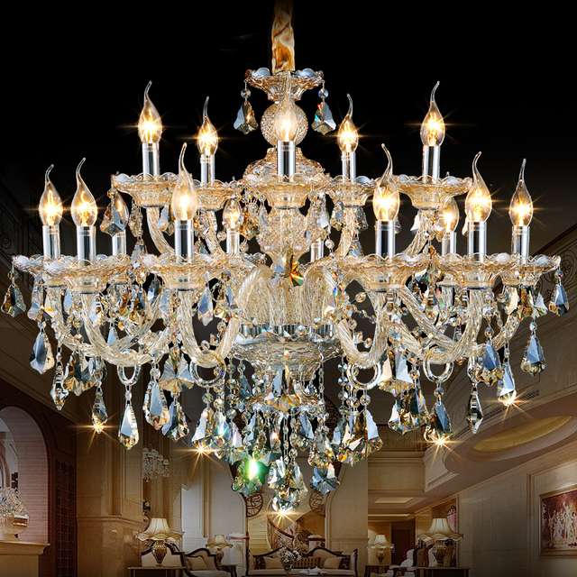 Crystal Chandelier Quality Types: Ceiling Crystal Chandelier LED European Candle Crystal
