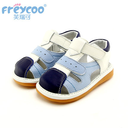 Freycoo summer genuine leather shoes 1-4 years old children shoes soft and comfortable baby shoes pretty outdoor sandals 6167(China (Mainland))